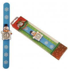 A fun and festive snowman design snap watch. A unique gift item and stocking filler for kids!