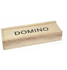Traditional wooden case domino set