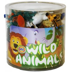 An assortment of wild animals. A fun set of play toys for children to discover, explore and learn.