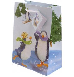 Covered with adorable little penguins enjoying a wintery day out in the snow