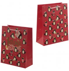 this Jolly Red toned gift bag will be sure to bring an added Christmas feel to your gift giving occasions this season