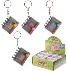 A cute owl design key ring with a floral band. A unique pocket money priced gift item.