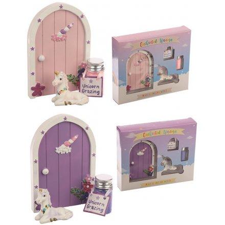 Magical unicorn door with glitter gift set