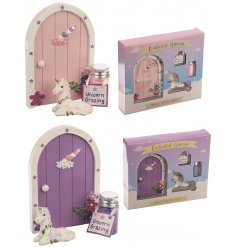 Magical unicorn door gift set with glitter