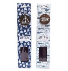 these nautical coloured incense packs will be sure to add a coastal sense to any space they're in
