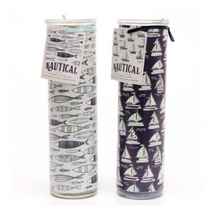 Sea Life Inspired Candle Tubes, 20cm