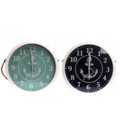 Bring a nautical inspired feel to any space of the home with this charming blue and white toned wall clocks