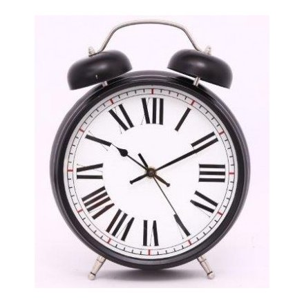 Large Metal Alarm Clock 30cm