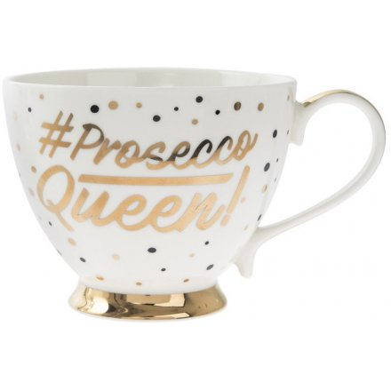 #Prosecco Queen Footed Mug