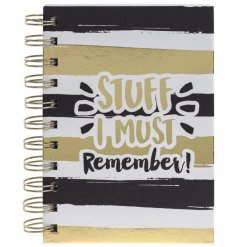 A gold and glamorous notebook for that really important stuff you need to remember!