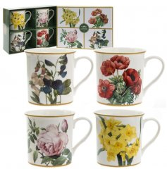 Complete with a matching gift box, this set of 4 floral printed mugs will be sure to make a wonderful gift idea