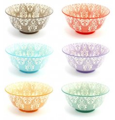 Add a hint of colour to your dining room or kitchen space with these colourful bowls in assorted colours