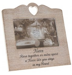 Bring a beautiful and sentimental touch to any family home with this sweetly finished wooden picture frame