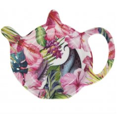 Bring some sunshine into the home with this bold and beautiful tropical design tea bag tidy.