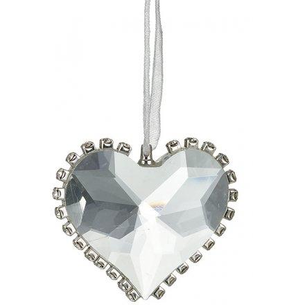 Glass Diamond Heart