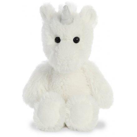 Bright White Plush Unicorn 8inch