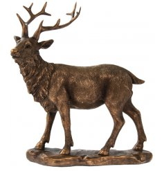 A fine quality stag ornament from the popular Bronzed Reflections range.