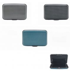 An assortment of stylish Graphite based card protectors in different colours