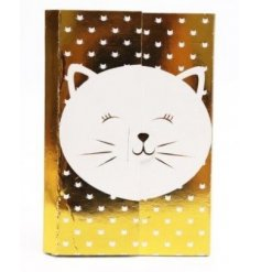 this gold and white magnetic memopad will be sure to come in handy for notes and reminders