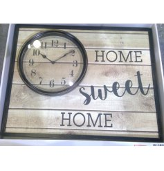 Turn any house into a home with this charmingly designed wooden clock plaque