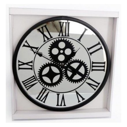 Mirrored Mechanism Clock