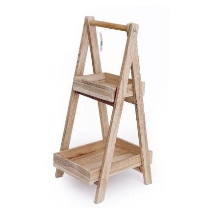 Natural Wooden 2 Tier A Frame