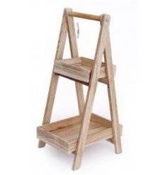 A natural wooden A Framed Unit perfect for plant storage or decoration in the garden