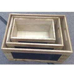 this set of 3 sized storage boxes with added chalkboards for labelling!