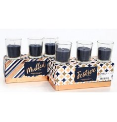 Bring a delightfully festive aroma to your home this Christmas with this charming assortment of gift boxed candles