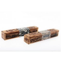 Safari inspired printed incense boxes, perfect home accessories for the new year!