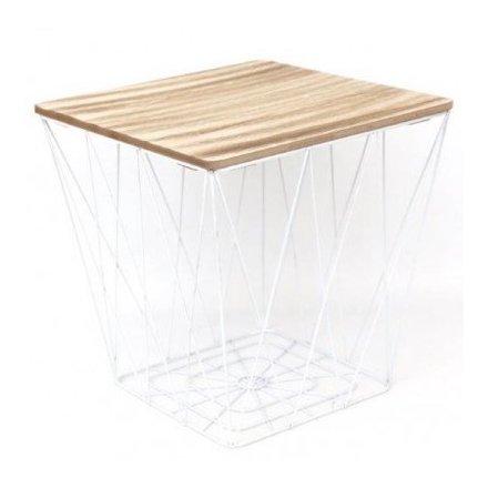 White Geometric Table