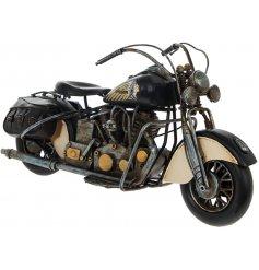 From the Leonardo Range, a fine quality Metal Motor Bike Ornament in a Black Tone