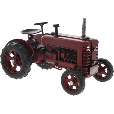 Vintage Tractor Red