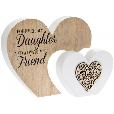 'Forever My Daughter' Natural Toned Heart Block