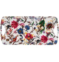 Part of a beautifully floral new range of kitchenwares, this plastic serving tray will be sure to add a splash of colou