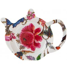 Part of a beautifully floral new range of kitchenwares, this plastic teabag tidy will be sure to add a splash of colour