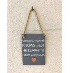 this charming hanging decoration is part of our wide range of Mini Dangler Signs