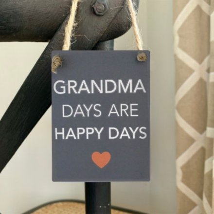 A charming little mini metal sign featuring a grey back tone and sweetly scripted text