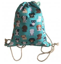 A cool and quirky dog squad design bag featuring a variety of breeds.