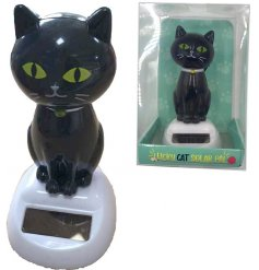 A black cat solar pal. A novelty gift item and collectable.