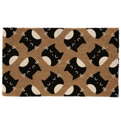this Feline Fine inspired Coir Doormat will be sure to bring a sassy touch to any front door!