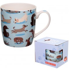An attractive dog squad design mug depicting a variety of breeds.