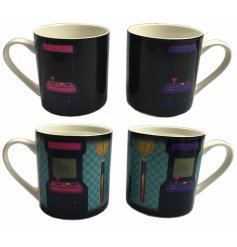 A fun and interactive colour changing mug. A novelty gift item for gaming enthusiasts.