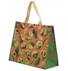 An on trend avocado design shopper. A reusable shopping bag for all of your shopping needs!