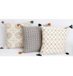 Bring a tending inspired edge to your home decor with this mix of plump decorative cushions