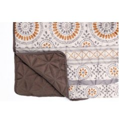 this soft and snuggly quilted throw will be sure to bring a trendy touch to any living space or bedroom