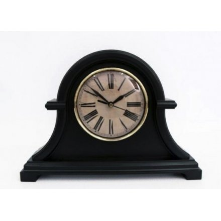 Vintage Black Mantle Clock