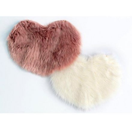 Assorted Pink/Cream Faux Fur Rugs