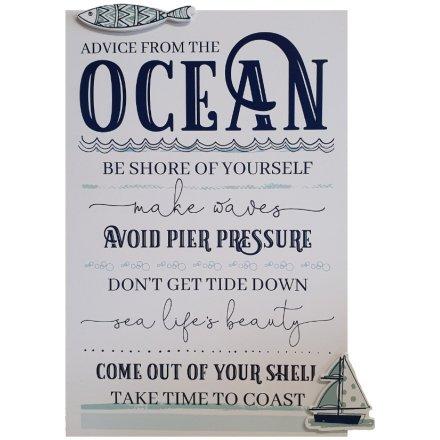 Ocean Rules Plaque