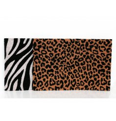 An assortment of Coir Doormats complete with Safari Animal inspired prints